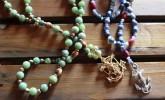 These gorgeous anchor rosaries make the perfect keepsake. Grab one by BEDE Prayable Art.