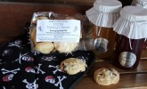 Gussy up your galley with cookies by Tamiza's Treats and fun pirate potholders by Mike's Pens and Things.