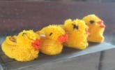 Kids can cozy up to these cute duck slippers created by Silver Stitch.