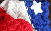 This patriotic throw will look great in your home created by Silver Stitch.