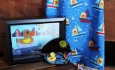 """Frame a memory of Tall Ships with this cool """"Giant Duck"""" photo frame and glass art by Enchanted Chic! The adorable kid's apron is also ready for purchase in 2 Market Street!"""