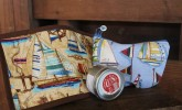 Add a pinch of a nautical theme to your kitchen with these mug rugs and totes by R-Sew-Cute!