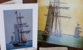 Write to your friends with Tall Ship cards made by San Pedro & Beyond