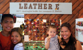 Eva of Leather E with her two sons.